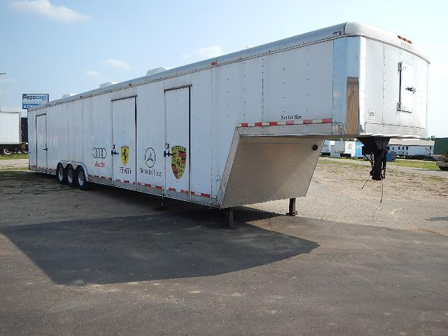 1997 49' Express Enclosed 3 Car Hauler Triaxle Trailer, New Tires, Brakes, Wiring