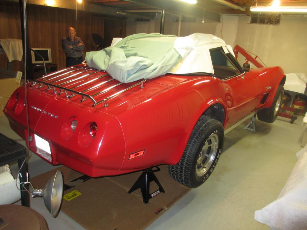1974 Corvette Convertible Project, 350 L-48 4 Speed with Air Conditioning Loaded, Red