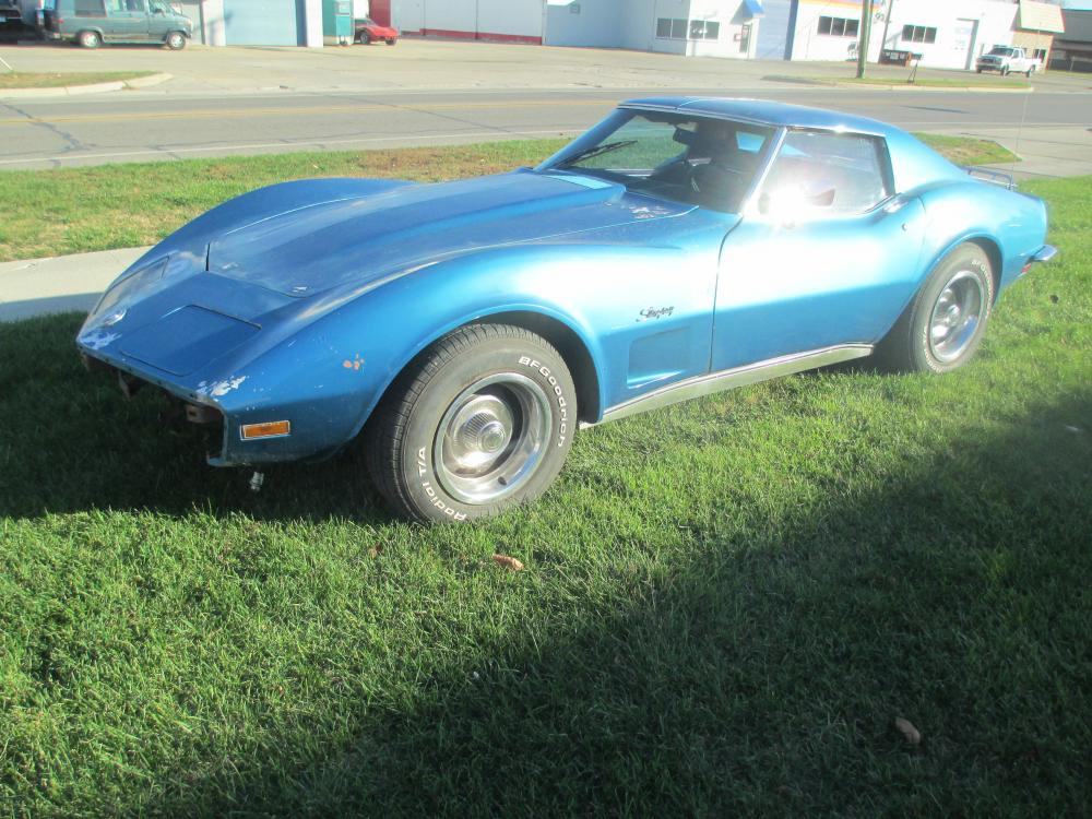 1973 Corvette Coupe 350 Auto P/Steering, P/Brakes, Luggage Rack, Project Car
