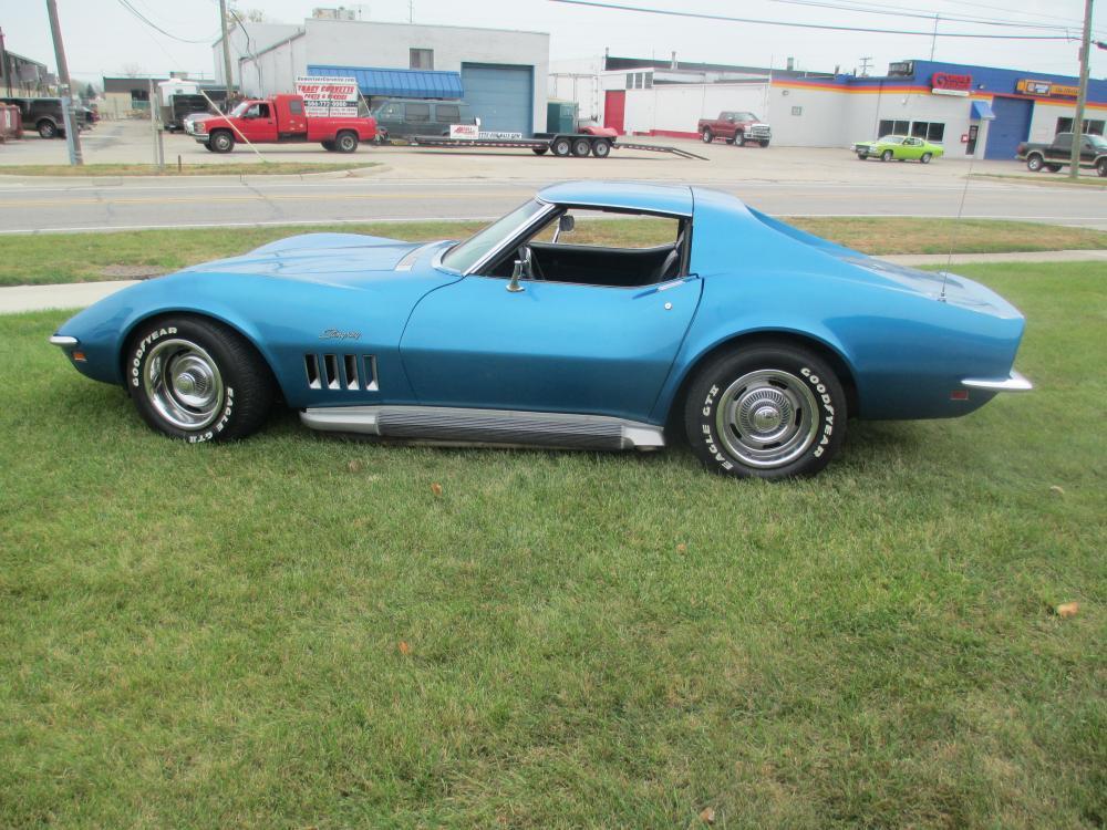 1969 Chevrolet Corvette Coupe 350 4 Speed Side Exhaust P/S Leather Tilt Tele Project Car