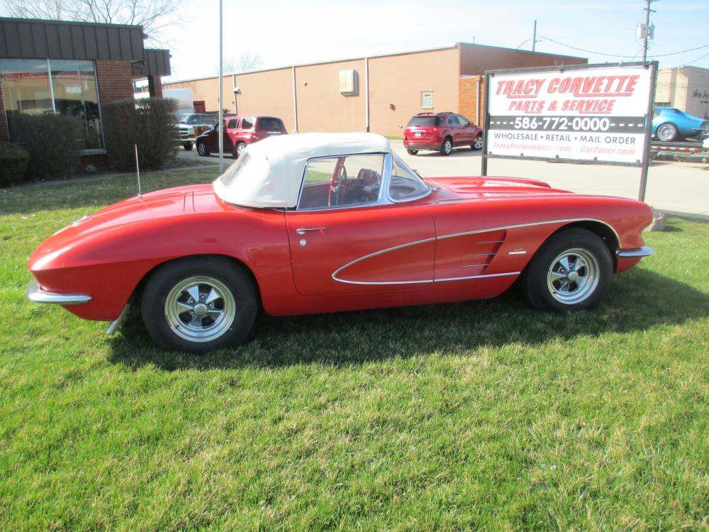 1961 Corvette Convertible with 350 4 Speed Rebuilt Engine, Transmission, Chassis, Carpet, Etc.