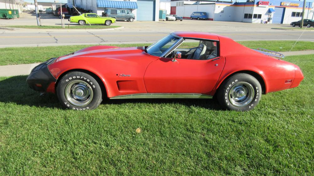 1974 Corvette Coupe Red Loaded 350 Auto AC PS PB PW Tilt Tele Stereo Custom Leather, Rack