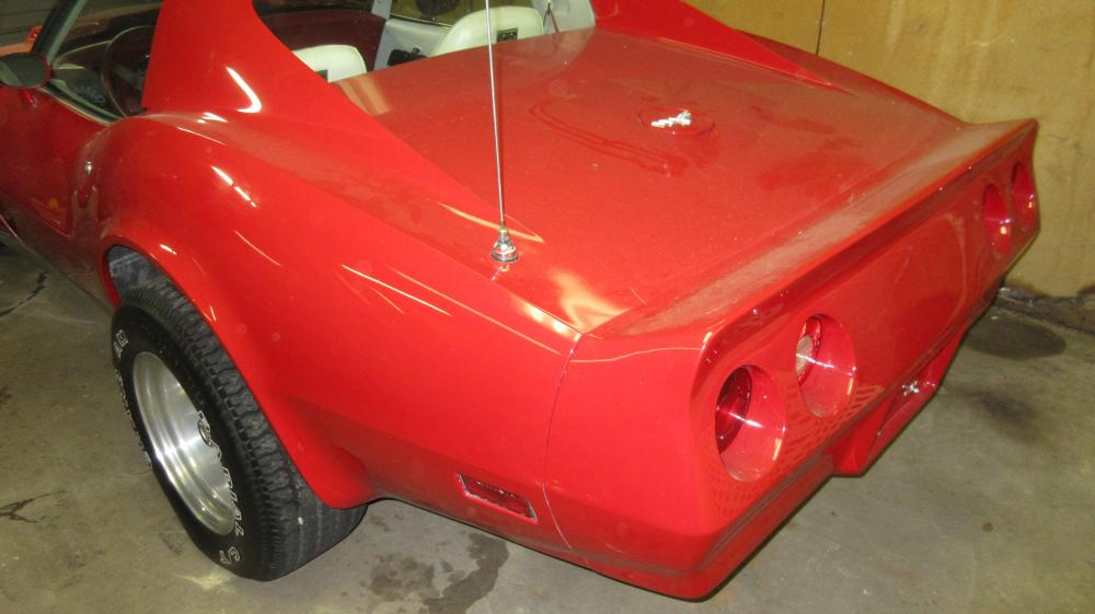 1977 Corvette Coupe, Red Cool Custom Hot Rod Fast Car