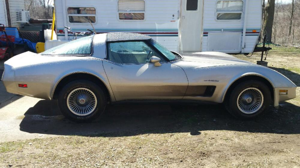 1982 Corvette Silver-Beige Collectors Edition Hatchback Coupe