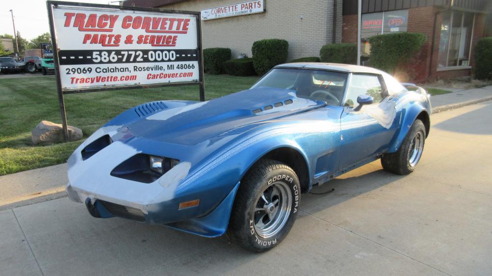 1977 Corvette Coupe Parts Car Less L48 Engine and Auto Transmission