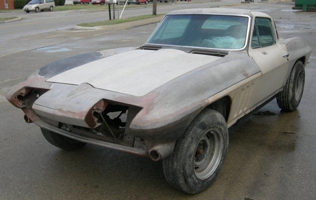 1965 Corvette Coupe Project Car with Air Conditioning, Available in Many Stages or Configurations, CALL