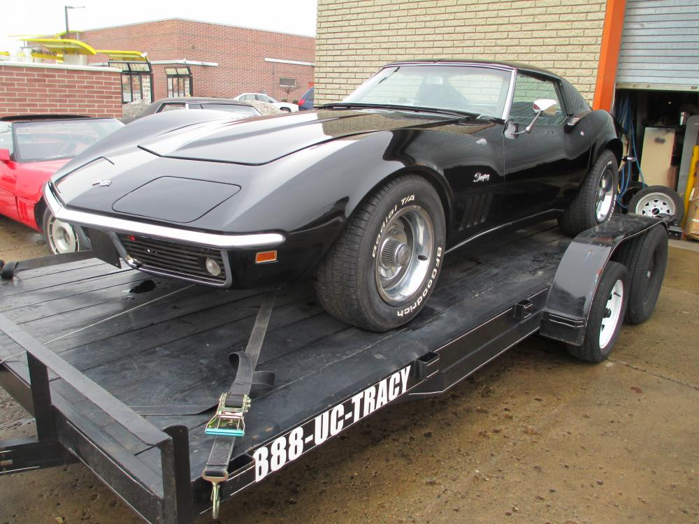1969 Black Corvette Coupe 350/350 4 Speed Project Car with Many, New Parts Very Early Car #509