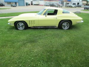 1966 Corvette Coupe Fresh 327/300, Rebuilt Powerglide, New Headlight Assm, Fresh Yellow Paint