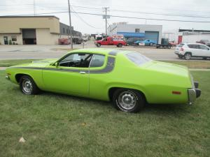 1974 Plymouth Road Runner 400 Automatic Lime Green/Black Stripe/Black Interior, Stock Body