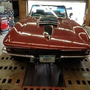 1967 Corvette Convertible 427/390 4 Spd Headrests Speed Warning, Alum Wheels Side Exh