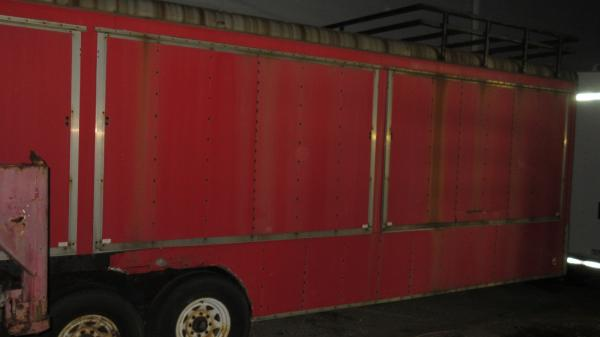 1990 28' Red 12,000 Lb GVW Tandem Axle Pace Vendor or Race Car Trailer