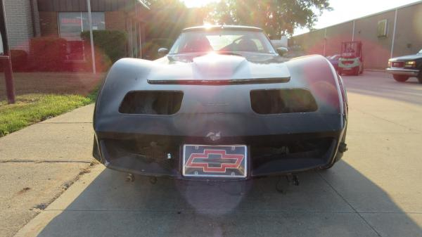 1978 Corvette Coupe Black Race Car Project Less Engine & Transmission