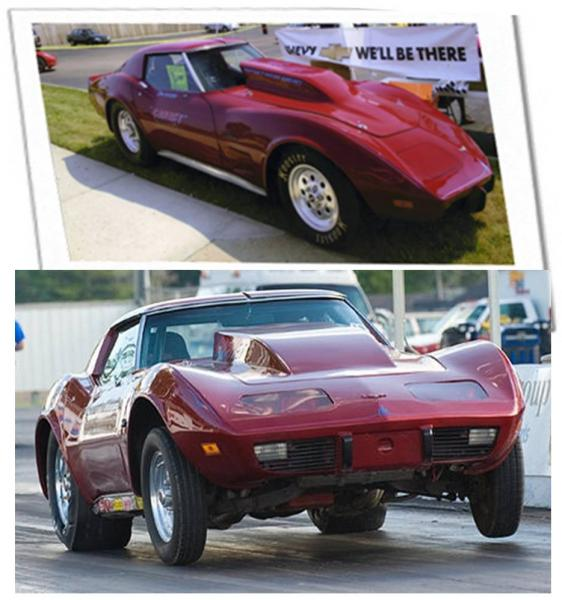 1974 Chevrolet Corvette Coupe Drag Racer Garnet Red Turn Key Ready