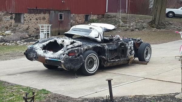 1957 Chevy Corvette Convertible Fuel Injected Project Parts Fire Recovery